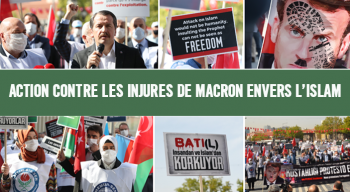 Action contre les injures de Macron envers l'Islam